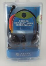 Altec Lansing AHS-433 PC Stereo Headset, Microphone, VoIP, Gaming, Skype, New