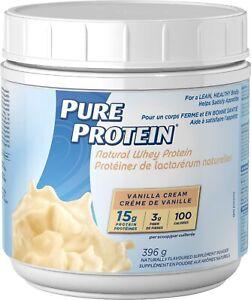 Pure Protein Natural Whey Protein, Vanilla Cream, 396g