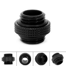 Black 18mm G1/4External Thread Hose Tube Connector Fittings for PC Water Cooling