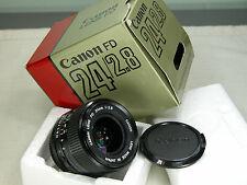 BOXED CANON FD 24mm F 2.8 EXC++ wide lens  for T90 A1 F1 AT1 T90 FTb AE1