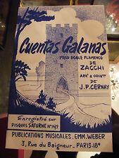 Partition Cuentas Galanas Zacchi Quadrilla Flamenca Music Sheet