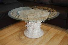 Runder Glastisch Couchtisch Wohnzimmertisch Medusa Marmortisch Versa Serie Antik