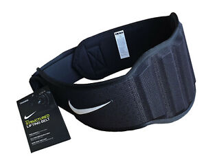 Nike Weight Lifting Belt Structured Mens Training Back Support Black Brand New