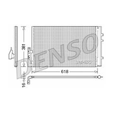 DENSO Kondensator, Klimaanlage