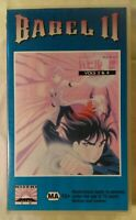 Babel II (Volumes 3 & 4) VHS 1992 Anime OVA 1994 Kiseki Films Small Case