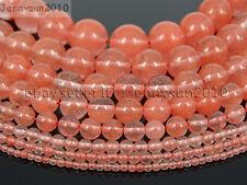 Natural Red Cherry Quartz Gemstone Round Beads 15.5'' 2mm 4mm 6mm 8mm 10mm 12mm
