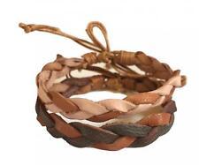 Nuevo His & Hers Pulsera de cuerda trenzada de cuero de regalo de aniversario bandas de la amistad