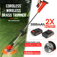Rechargeable Cordless Electric Grass Trimmer Garden Lawn Mower 1/2