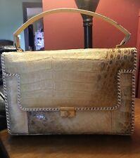Vintage Genuine Alligator Purse Handbag Handcrafted Florida USA Retro