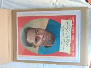 HOFer Emlen Tunnell Autographed New York Giants Card Photo Died 1975