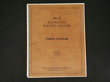 Blanchard Surface Grinder Model #11 Parts Catalog Manual *13
