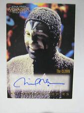 star trek Voyager profiles autograph card