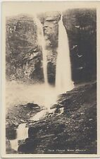 c1910 TWIN FALLS Yoho National Park RPPC British Columbia BC Postcard