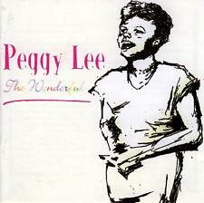 PEGGY LEE - THE WONDERFUL (NEW CD)