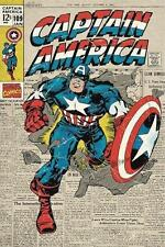 Capitaine America poster MARVEL Bande dessinée Cover