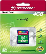 4GB SDHC Transcend Scheda di memoria per Canon Power Shot A650 IS,A720 IS