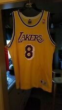 Vtg 90s Authentic Champion KOBE BRYANT #8 LAKERS Sz 48 NBA Jersey gold purple