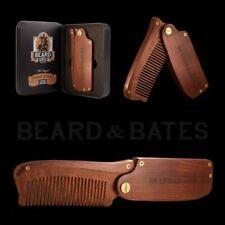 Beard And Bates - Sandalwood Switchblade -The Original Folding Wooden Beard Comb