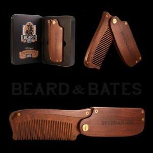 Beard And Bates - Sandalwood Switchblade -Beard Comb - SECONDS CLEARANCE