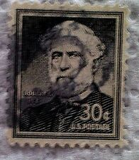 1955 Scott 1049 Robert E. Lee one used and cancelled 30 cent stamp off paper