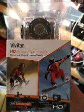 Vivitar DVR 783hd Action Caméscope Neuf Scellé Vélo, Casque, étanche Boîtier