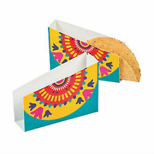 CARDBOARD TACO HOLDER BOXES MEXIICAN FIESTA PARTY MEXICAN FOOD