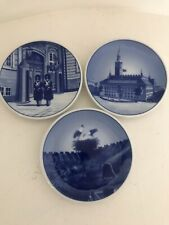 3 Royal Copenhagen Plaquette Mini Plates; Storkerede/Kongens Livgarde/Kobenhavns