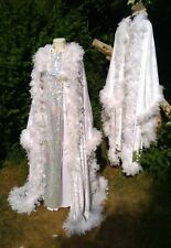PANTOMIME UGLY SISTERS ELABORATE DRESSES & COATS WITH FEATHER AND SEQUIN TRIM