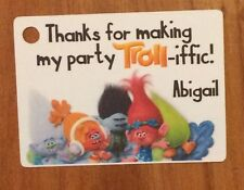 12 Personalized Custom Birthday Party Favor Tags. Trolls Movie! Add Your Name!