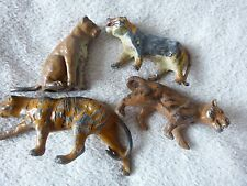 Vintage Britains Lead Model Toys Lions & Tigers Zoo Wild Animals Lot  50's