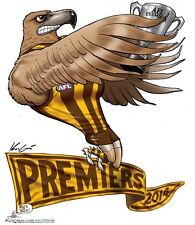 2014 HAWTHORN HAWKS GRAND FINAL PREMIERS PREMIERSHIP WEG KNIGHT POSTER HODGE