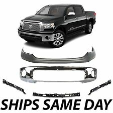 NEW Chrome - Steel Front Bumper Kit with Brackets For 2007-2013 Toyota Tundra