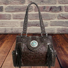 Montana West Concealed Carry Purse Fringe Leather Western Country Handbag