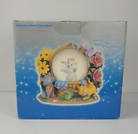 Disney ARISTOCATS in Basket Snowglobe Music Box Waltz of the Flowers Tchaikovsky