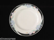 "Caravel by Excel China Floral Iris & Tulip, Black Border - 10-1/2"" DINNER PLATE"