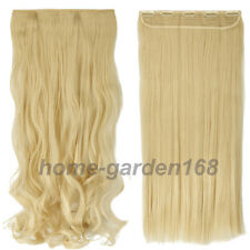 100% Real Thick 200g Clip in Hair Extensions Full Head  as remy human Hair QW9