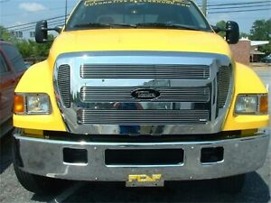 For 2004-2011 Ford F650 Polished Aluminum Grille
