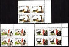 RUSSIA/USSR 1990 FAUNA: Poultry: Birds. Goose, Hen, Turkey. CORNER Blocks, MNH