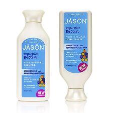 JASON ORGANIC BIOTIN SHAMPOO & CONDITIONER 480ml-No Parabens / Phthalates
