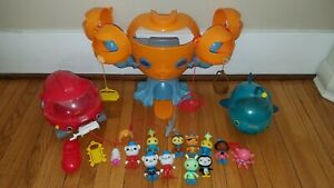 Big lot Fisher-Price Octonauts Octopod Octolab Playset Figures, Gups, creatures