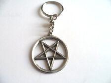 Inverted Pentagram English Pewter  keyring