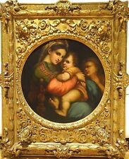 Huge Fine 18th 19h Century Italian Old Master Madonna & Baby Antique Painting