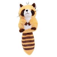 Racoon Plush Doll Japanese Cute Soft Stuffed Animal Toy Keychain Charm Orange