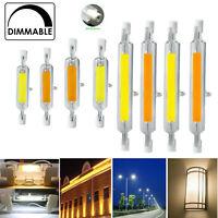 2X 4X10X R7s LED 118mm 78mm Dimmable COB Bulbs 7W 12W 15W 25W Glass Tube Light