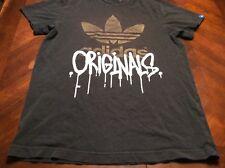 True Vintage Adidas Originals Drip Paint Old School German Tag Tshirt Size S Men