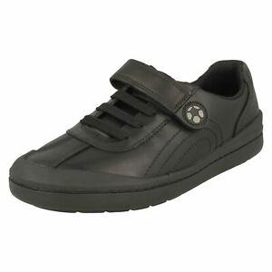 Clarks Boys Football Detailed School Shoes - Rock Pass