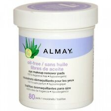 Almay Oil Free Eye Makeup Remover Pads 80 count Hypoallergenic *Twin Pack*