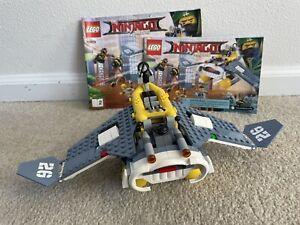 LEGO 70609 The LEGO Ninjago Movie Manta Ray Bomber 2017 W/ Manual Incomplete