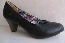 PIA CORSINI PUMPS 39, Schuhe UK 6 - 6,5, schwarz, 7 c m Trichter Absatz,Sohle 25