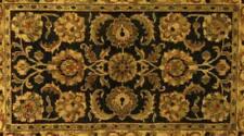 Vintage Indo Persian SAROUK TABRIZ Afshan Pattern Rug  Muti colored 8'6 x 5'5